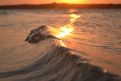Wave sunset 4 Royalty Free Stock Image