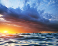 Wave on sunset Royalty Free Stock Photography