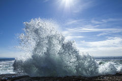 Wave in the sunshine Royalty Free Stock Photo