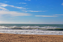 Wave. Super tubos, Peniche royalty free stock image