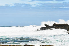 Wave surf in Atlantic ocean, Costa da Morte, Spain Royalty Free Stock Photo