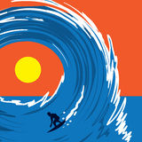 Wave Surfer Royalty Free Stock Images