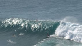 Wave surfing stock video