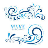 Wave swirls Royalty Free Stock Photos