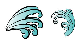 Wave tattoo design isolate vector. Japanese and chinese wave tattoo design isolate vector Stock Photo
