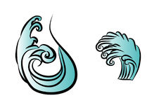 Wave tattoo design isolate vector Stock Image