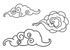 Wave tattoo design isolate vector. Japanese and chinese wave tattoo design isolate vector Stock Images