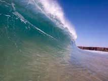 Wave. Then breaks along the coast of Fuerteventura Stock Image