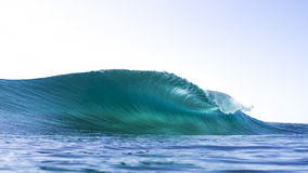 Wave about to break with amazing water colour Stock Photo