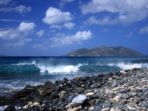 Wave at Tortola island Royalty Free Stock Photo
