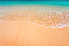 Wave and tropical beach stock image