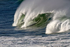Wave with tube and spray Royalty Free Stock Images