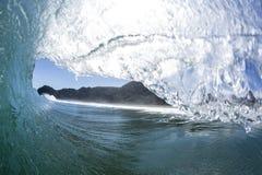 Wave Tubing, North Piha, New Zealand royalty free stock photography