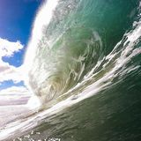 Wave, tubo, vista acquatica Fotografia Stock