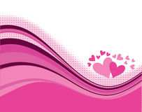 Wave valentines background Stock Image