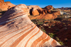 The Wave. In Valley of Fire State Park, Nevada Stock Image