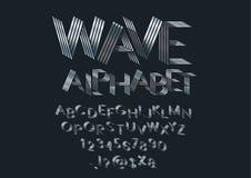 Wave font royalty free illustration