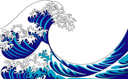 Wave. Vector illustration of big blue wave Royalty Free Stock Photography
