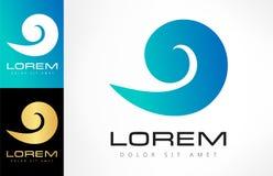 Wave vector logo. Wave logo vector. Logo design vector illustration Royalty Free Stock Photos