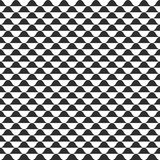 Wave vector seamless pattern, black and white curvy wavy background Stock Image