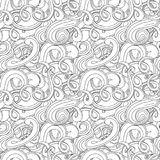 Wave vector seamless pattern Royalty Free Stock Photo