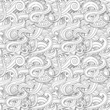 Wave vector seamless pattern Royalty Free Stock Photos