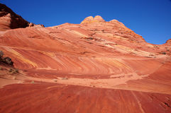 The Wave, Vermilion Cliffs National Monument, Arizona, USA. The Wave in the Vermilion Cliffs National Monument,  a National Park located in Arizona in the United Royalty Free Stock Photos