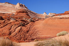 The Wave, Vermilion Cliffs National Monument, Arizona, USA. The Wave in the Vermilion Cliffs National Monument,  a National Park located in Arizona in the United Royalty Free Stock Photo
