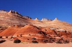 The Wave, Vermilion Cliffs National Monument, Arizona, USA. The Wave in the Vermilion Cliffs National Monument,  a National Park located in Arizona in the United Royalty Free Stock Image