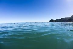 Wave Waiting, North Piha, New Zealand Royalty Free Stock Photo