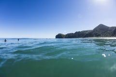Wave Waiting, North Piha, New Zealand Royalty Free Stock Image
