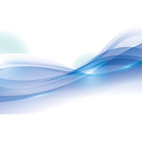 Wave wallpaper shiny blue background icon. Vector graphic Stock Photo