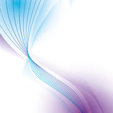 Wave wallpaper shiny blue purple background icon. Vector graphic Stock Photography