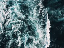 Wave of Water on Body of Water Stock Image