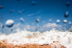 The wave.Water Drop And Splash. Royalty Free Stock Images