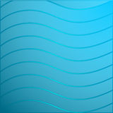 Wave. S on a blue background Stock Photography