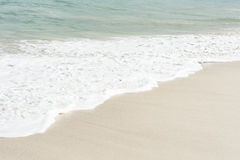 Wave on White Sand Beach Royalty Free Stock Photo