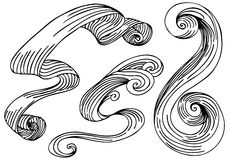 Wave Wind Ribbons Stock Photos