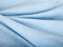 Wavebakgrund av blå pälstextur. Royaltyfri Foto