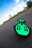 Waveboard on the ground Stock Photo