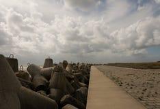 Wavebreaker Heligoland Стоковое Изображение