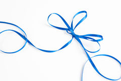 Waved blue ribbon isolated on white background Royalty Free Stock Photography