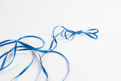 Waved blue ribbon Royalty Free Stock Image
