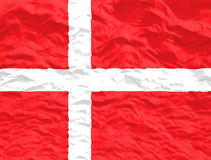Waved Denmark Flag Stock Photo