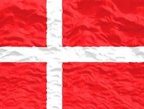 Waved Denmark Flag. Waved and colorful Denmark Flag stock photo