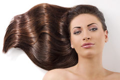 Waved hair Royalty Free Stock Photos
