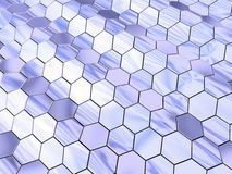 Waved hexagon space Royalty Free Stock Photography