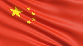 The flag of China royalty free stock images