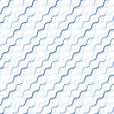 Waved line pattern. Including seamless sample in swatch panel Stock Photography