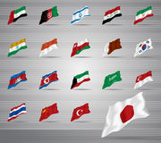 Waved national flags Royalty Free Stock Photos